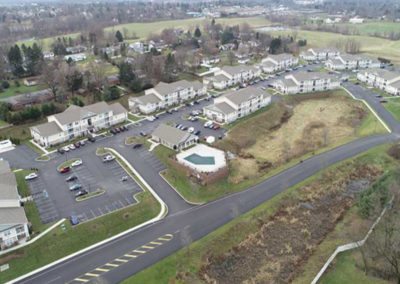 Arial view of West Hanover apartments at The Reserve at Manada Hill