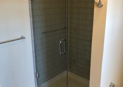 Shower in bathroom in Wyomissing apartment