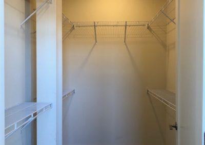 Spacious walk-in closet at The Metropolitan