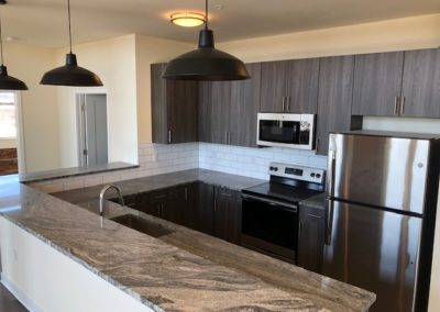 Granite counter tops in Wyomissing kitchen rental