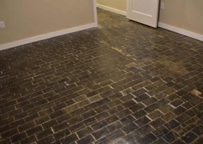 Brick flooring at The Lofts at Narrow