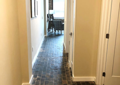 Interior hallway in apartment rental in West Reading at The Lofts at Narrow