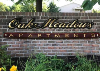 Oak Meadows Apartments sign in Sinking Spring, PA