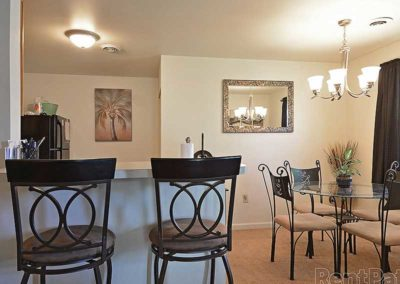 Breakfast bar and dining area in Sinking Spring, PA apartment