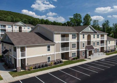 Exterior of The Reserve at Spring Pointe apartments in Reading, PA