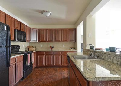 Expansive kitchen in The Reserve at Spring Pointe rental