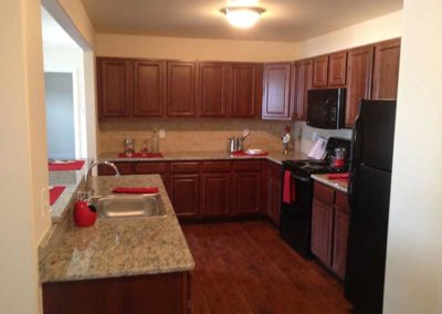 Kitchen with granite counter tops at The Reserve at Spring Point