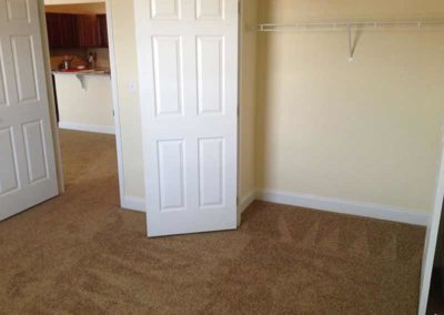 Empty Walk-in closet at Reading apartment for rent at The Reserve at Spring Pointe