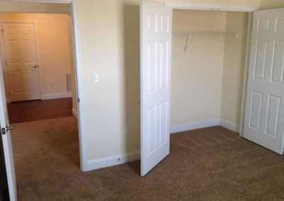 Reading apartment bedroom with walk-in closet