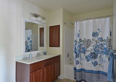 Bathroom in apartment at The Reserve at Spring Pointe