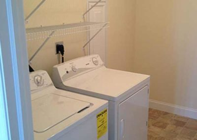 Washer and dryer in apartment at The Reserve at Spring Pointe in Reading