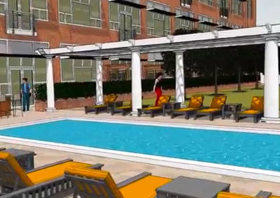 Rooftop pool at The Metropolitan apartments in Wyomissing, PA