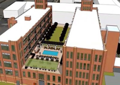 Illustration exterior of The Metropolitan apartments for rent in Wyomissing, PA