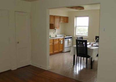 Living room and kitchen of Reading apartment
