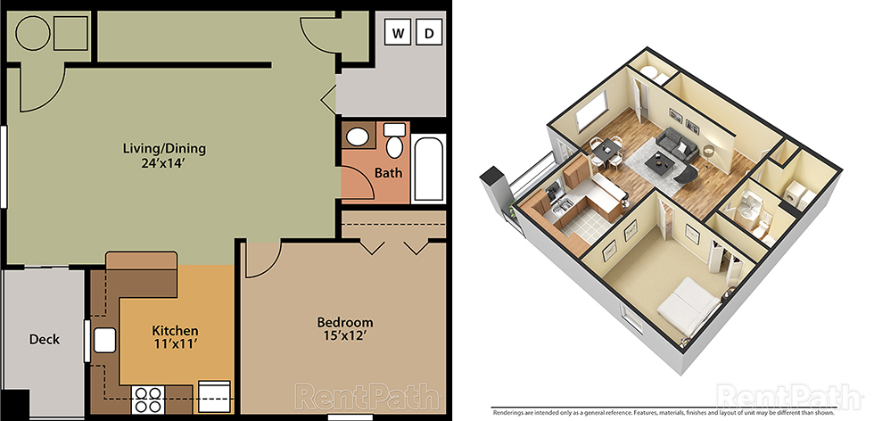 Featherton Crossing 1 Bedroom