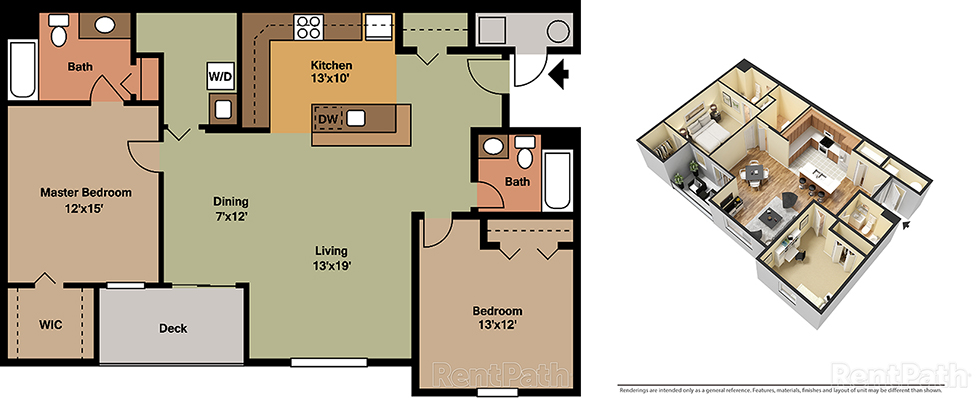 Reserve at Paxton Creek 2 Bedroom