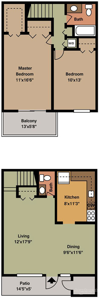 Townhomes at Spring Valley 2 Bedroom
