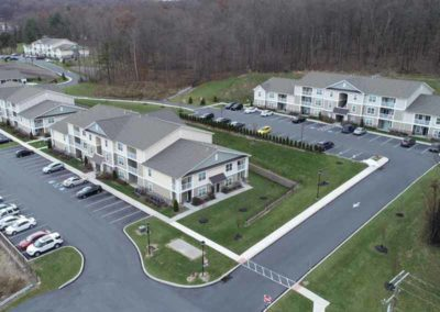 Arial view of The Reserve at Spring Pointe apartments in Reading, PA