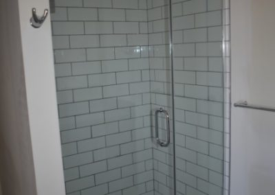 Stand up shower in apartment rental at The Metropolitan