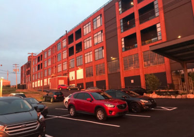 Exterior of The Lofts at Narrow apartment building in West Reading