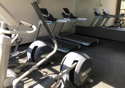 Cardio equipment at The Lofts at Narrow fitness center