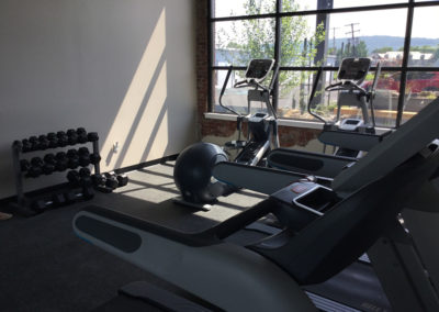 Fitness Center at The Lofts at Narrow West Reading apartments