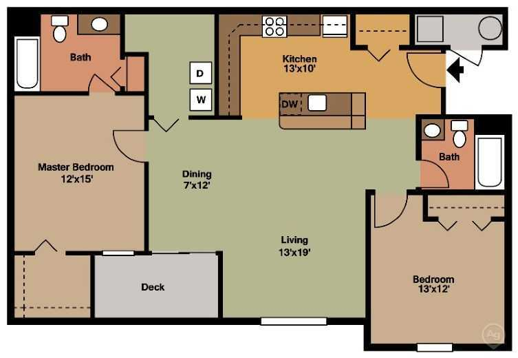 Maidencreek Village 2 Bedroom Building