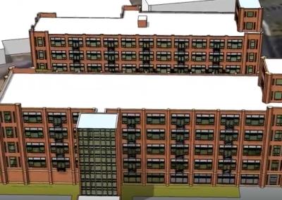 Exterior illustration of The Metropolitan apartment rentals in Wyomissing