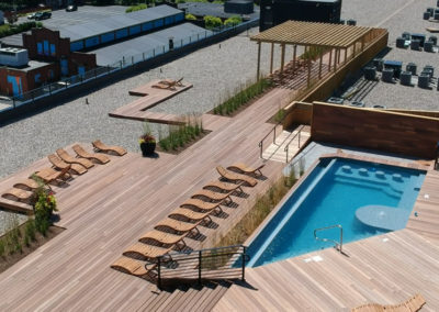 Rooftop pool and lounge at West Reading apartments at The Lofts at Narrow
