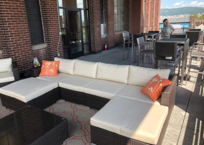 Entertainment lounge at The Lofts at Narrow West Reading rentals