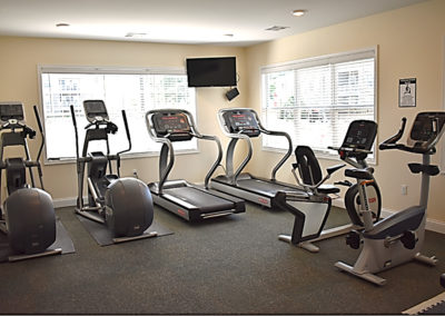 Fitness center at The Reserve at Manada Hill apartments in West Hanover